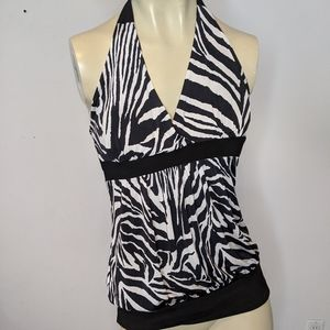 Seductions - zebra halter top